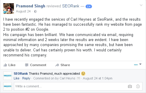 review seorank cape town seo agency